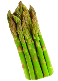Look for sturdy, snappy, bright green asparagus with CLOSED buds.
