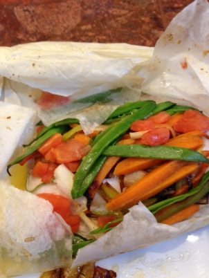 The Dramatic Finish-Fish En Papillote