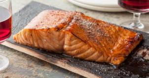 Salmon Grilled on a Cedar Plank