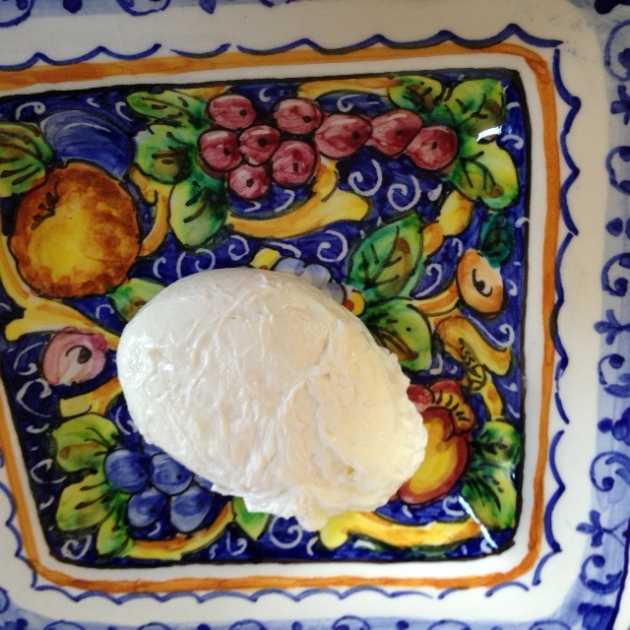 Poached egg on a plate