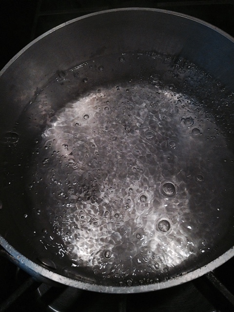 Low Simmering Water Barely Bubbles